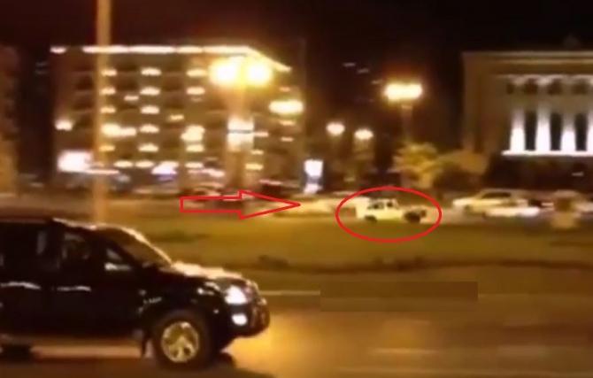 Bakının mərkəzində avtoş-luq etdi, hər kəsi heyrətləndirdi (VİDEO)