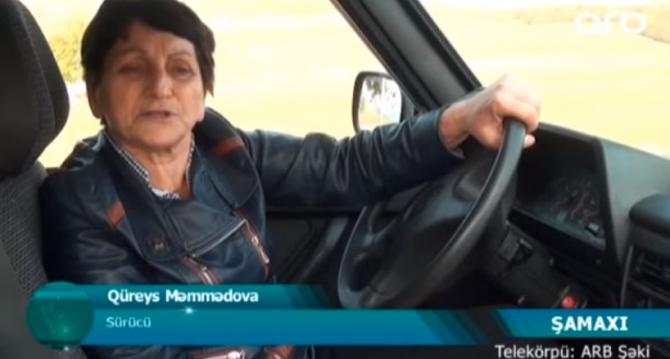 """Azərbaycanda 67 yaşlı nənə: """"İdmançıyam, maşının təkərin özüm dəyişirəm"""""""