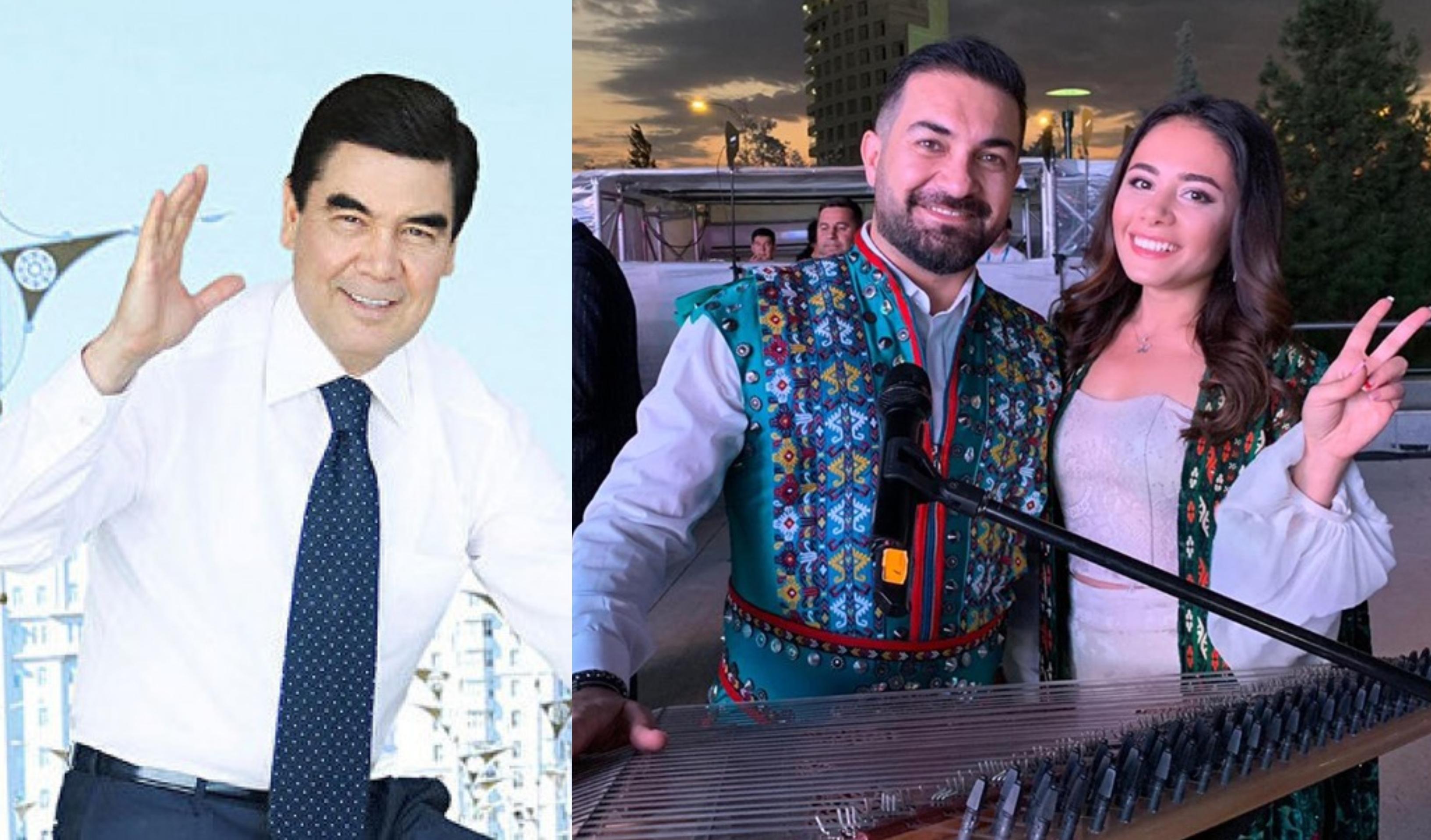 Türkmənistan prezidenti azərbaycanlı müğənnilərə hədiyyə verib