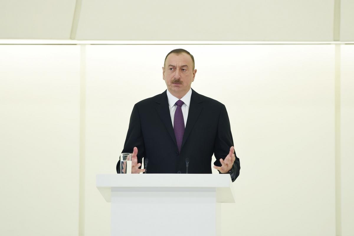 """""""Erməni tarixçiləri tarixi təhrif etməkdə usta dərəcəsinə çatıblar"""" - İlham Əliyev"""