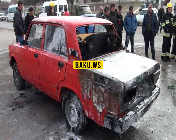 Avtomobilinə səs gücləndirici qoşdu, maşını yandı