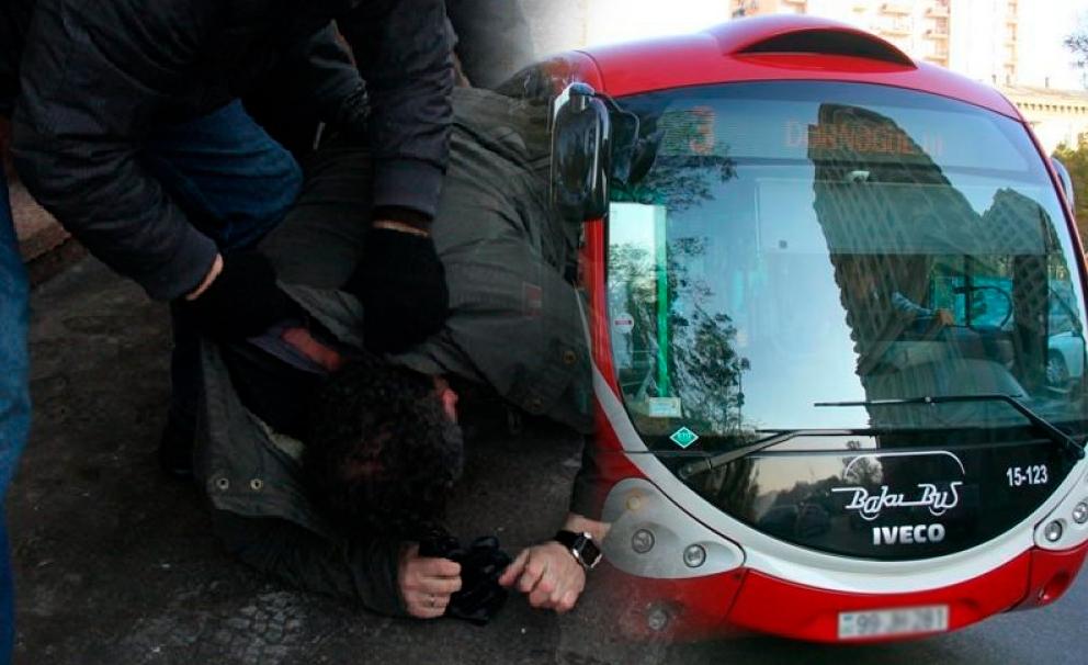 """Sərnişin """"BakuBus""""ın sürücüsünü döydü"""