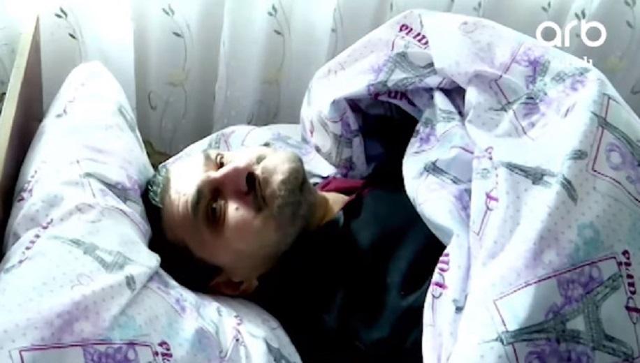 Yataq xəstəsi olan Ağakərimin ürəksızladan görüntüləri - VİDEO