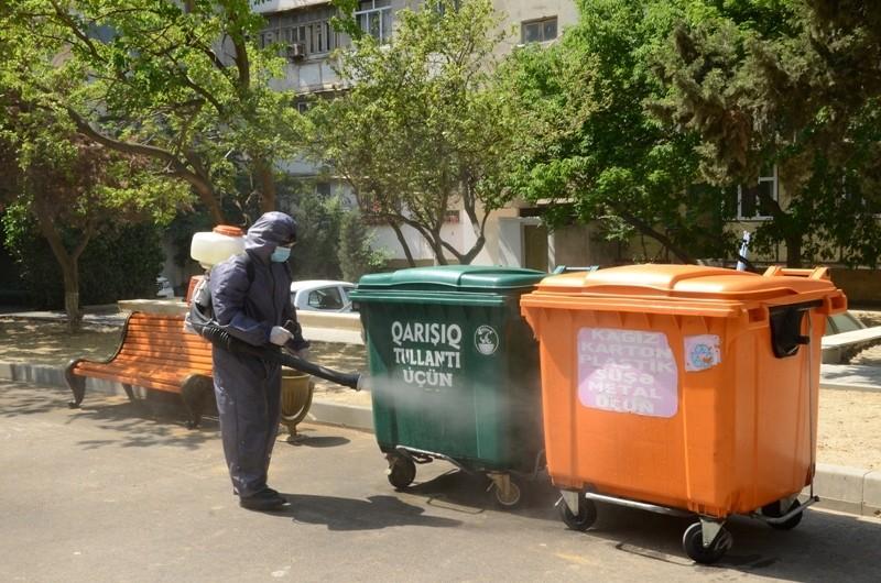 Bakıda həyətlərə əlavə zibil konteynerləri qoyulub