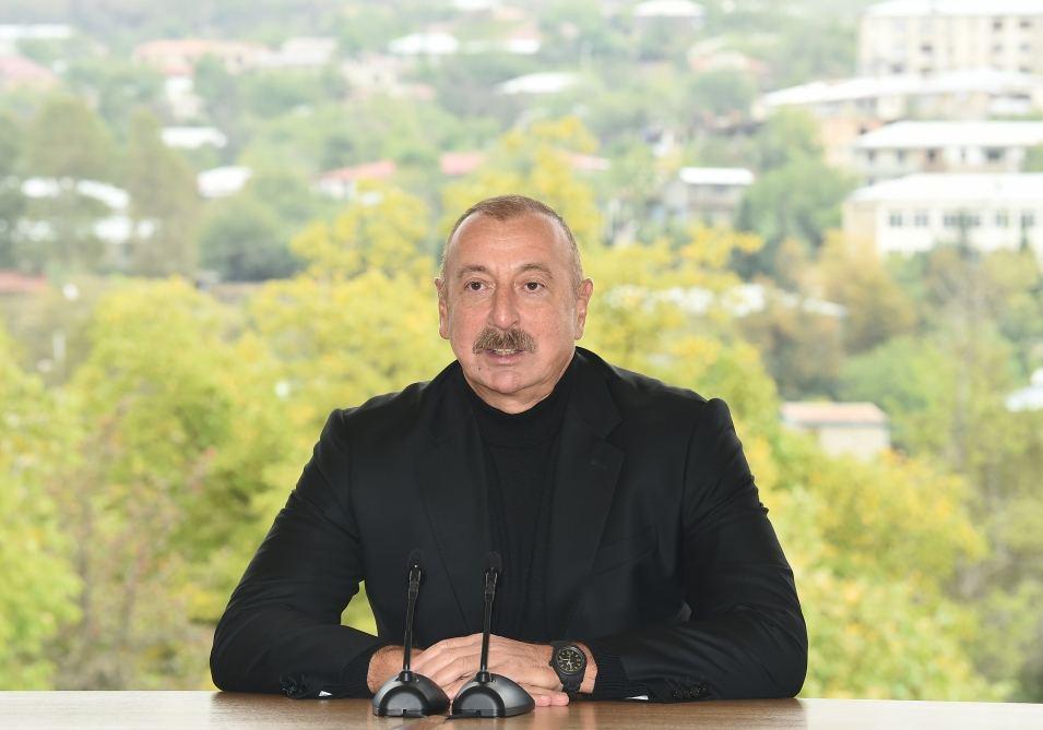 Prezident Hadrutun baş planına iradlarını bildirib